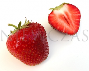 Cut strawberry fruit of Elsariusz