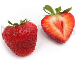 Cut strawberry fruit of Markat